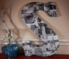 Great for graduation gifts, wedding gifts, birthday gifts........... Photo Collage Letters, Wall Art, Personal Collage