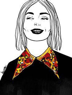 peace love fashion pizza