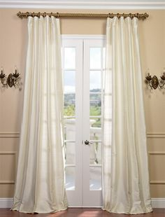 Curtain ,For living room Pearl Textured Dupioni Silk Curtain. lovely length