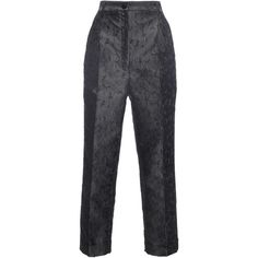 Dolce & Gabbana Flower Jacquard Cropped Pant (82.035 RUB) ❤ liked on Polyvore featuring pants, capris, dolce & gabbana, trousers, cuffed pants, flower print pants, slim fit pants, slim pants and floral trousers