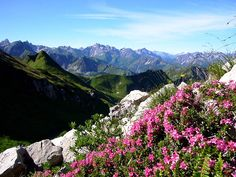 Mountains in the Bavarian Alps