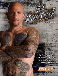 Ami James famoso tatuador contra el uso de pieles animales