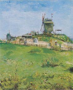 """tuktek: """" Vincent van Gogh (1853–1890) Le Moulin de la Galette, Paris, March 1887, Oil on canvas """""""
