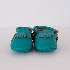 Pip & bop Turquoise moccasin baby and toddler footwear Moccasins, Baby Shoes, Footwear, Colours, Turquoise, Leather, Clothes, Shopping, Collection