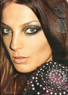 Daria Werbowy, makeup (Lancome) by Aaron de Mey for Vogue Russia