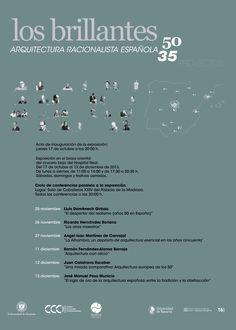 """La exposición  """"Los brillantes 50. 35 proyectos de arquitectura racionalista española"""" ofrece una visión acerca del desarrollo de la arquitectura racionalista española durante uno de sus periodos más destacados, el comprendido entre los años 1950 y 1965."""