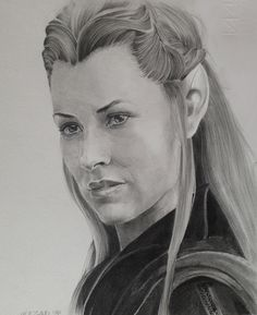 the hobbit the desolation of smaug drawings | Tauriel - The Hobbit: The Desolation of Smaug by X-TeO-X