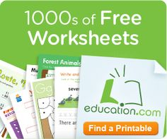 Free Educational Printable Worksheets!! Preschool to Highschool!