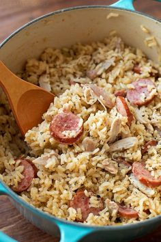 Chicken bog is a pilaf-style dish made of rice, chicken, onion, spices, and sausage. This quick and easy 1-pot meal is sure to become a family favorite!