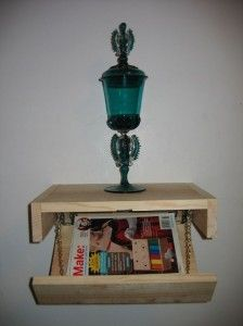 Floating Shelf with Secret Storage - 15 Secret Hiding Places That Will Fool Even the Smartest Burglar