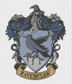 Ravenclaw Crest Cross Stitch Pattern by PatronusStitch on Etsy Beaded Cross Stitch, Crochet Cross, Cross Stitch Charts, Cross Stitch Embroidery, Embroidery Patterns, Ravenclaw, Modern Cross Stitch Patterns, Cross Stitch Designs, Harry Potter Cross Stitch Pattern