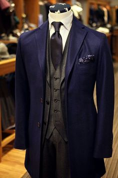 Style & Suits by Mens Fashion Suits, Mens Suits, Fashion Outfits, Men's Fashion, Gentleman Mode, Gentleman Style, Sharp Dressed Man, Well Dressed Men, Style Costume Homme