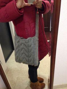 ソーイング:手編み斜めがけバッグ