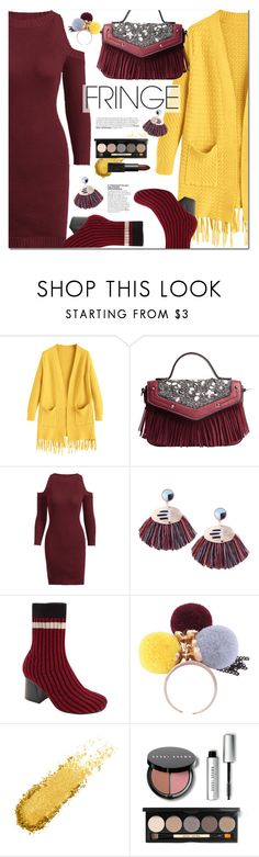 """Shimmy Shimmy: Fringe"" by ansev ❤ liked on Polyvore featuring Bobbi Brown Cosmetics and fringe"