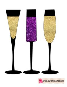 Free Printable Champagne Glasses Props