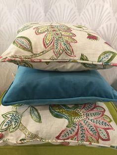 Cojines hechos con telas de Güell-Lamadrid  #colleción2016 #algodon #hogar #homedesign #homedecor #decor #decoracion  #interior #interiordesign  #textiles #textildesign #telas #valencia #texturas