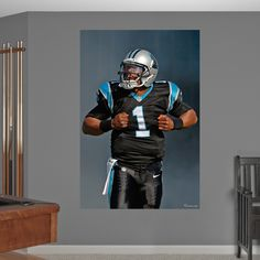 Cam Newton Superman Mural Fathead Wall Graphic | Carolina Panthers Wall  Decal | Sports Home Décor