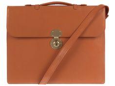 Daines & Hathaway Bridle Tan Leather Kensington Document Case    pureluxuries.com