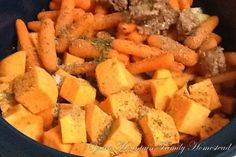 Ozark Mountain Family Homestead: Crockpot Beef Stew with Sweet Potatoes Slow Cooker Recipes, Crockpot Recipes, Cooking Recipes, Clean Recipes, Healthy Recipes, Beef And Potato Stew, Crock Pot Cooking, Sweet Potato, Healthy Eating