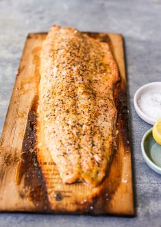 Simple Cedar Plank Salmon - The Defined Dish Cedar Plank Salmon, Cedar Planks, Pan Seared Salmon, Roasted Salmon, Classic Salmon Recipe, Salmon Piccata, Whats Gaby Cooking, Salmon Dinner, Mediterranean Dishes