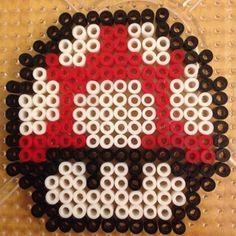 "Bügelperlen ""Großmach Pilz"" (Super Mario) #nintendo #pearler #bügelperlen"