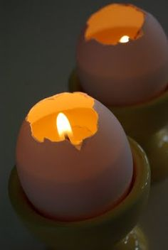 Egg Shell Candles