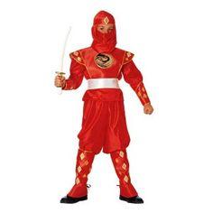 Power Ranger στολή για αγόρια με κόκκινη στολή Μάχης