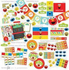 Elmo Invitation Elmo Invite Elmo Birthday Sesame by GardellaGlobal
