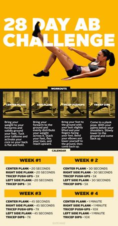 Here's how to get a flat stomach in jour four weeks. #weightloss #exercise #getfit