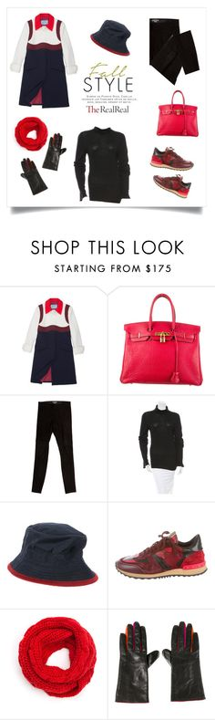 """""""Fall Style With The RealReal: Contest Entry"""" by the-kwas ❤ liked on Polyvore featuring Prada, Hermès, Vince, Ann Demeulemeester and Theo"""