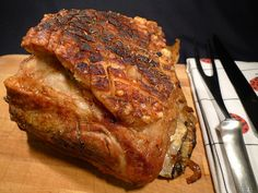 Holiday Roast: Slow Roasted Pork Shoulder - Pear, Ginger Sauce - Chef Franco Lania