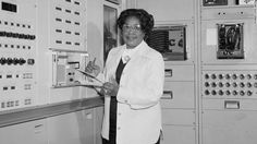 Mary Jackson at work in at Langley, NASA: Jackson focused on processing data from wind tunnel experiments and experimental flights; she later worked with flight test engineers and eventually became an engineer. #blackhistorymonth #math