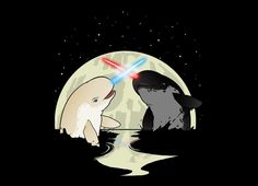 "Narwhal Star Wars T-Shirt ""Nar Wars"" shows two Jedi of the sea battling in epic fashion with horned lightsabers. All Pop, Cool Pops, Geek Out, Nerdy, Pop Culture, Sci Fi, Geek Stuff, Star Wars, Art Prints"