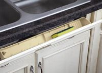 Buy the Rev-A-Shelf Almond Direct. Shop for the Rev-A-Shelf Almond Series 24 Inch Deluxe Tip Out Tray with 1 Pair of 45 Degree Hinges and save. Kitchen Organization, Organization Hacks, Organizing, Wall Shelves, Shelving, Natural Stone Backsplash, Stone Countertops, Rev A Shelf, Furniture Layout