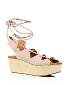 See by Chloé Liana Cork Wedge Lace Up Sandals | Bloomingdale's