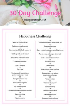 Happiness 30 day challenge Happiness 30 day challenge June Gratitude Running ChallengeInnovative 30 Day Plank C Challenge For Teens, Love Challenge, Health Challenge, Thigh Challenge, Plank Challenge, 30 Day Song Challenge, Monthly Challenge, September Fitness Challenge, Productivity Challenge
