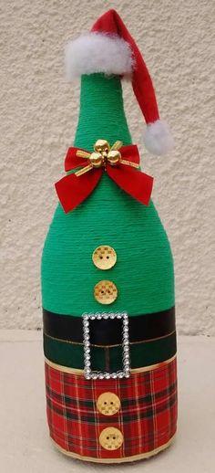 garrafas-decoradas-barbante-natal-verde