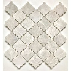 Make a statement with this Arabesque Marble Mosaic Tile in White Iceberg. This timeless tile can be used in many applications. Whether installed as backsplash or wall cladding, this mosaic is sure to bring style and elegance to your home. Marble Mosaic, Glass Mosaic Tiles, Stone Mosaic, Arabesque Tile Backsplash, Splashback Tiles, Small American Kitchens, Side Dishes For Bbq, Kitchen Pictures, Kitchen Ideas