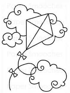 Coloring Page  Kite Coloring Pages    Kites Template