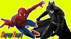Spiderman vs. Batman vs. Blue Spiderman Fight in Real Life - Superhero M...