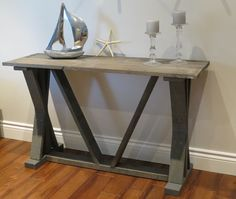 Timberland Console Table - Classic Grey
