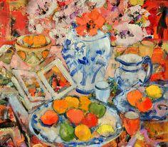Peter McLaren (b.1964) Still Life with Clarice Cliff Bowl