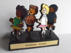Vintage 1960's 1970's equal rights spring sculpture by tjmccarty #vintage #rainbow #equality #diversity