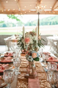 We are loving this Drakewood Farm reception with such an elegant shimmery vibe! Click the image to learn more about this wedding venue near Nashville. Photo credit: DrakewoodFarm.com