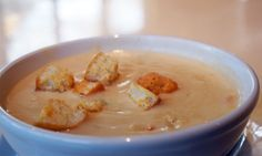 Sharp Cheddar & Red Oak Soup with roasted sweet pepper croutons | Spring in Your Step Menu, March 2016 | Lucky 32 Southern Kitchen Menus, Beer & Wine List