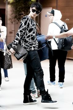 140816- EXO Tao (Huang Zitao) @ Incheon Airport #exom #men #fashion #style #kfashion #kstyle #cpop
