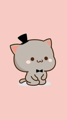 Dressing up for my lady Diy Kawaii, Kawaii Cat, Chibi Cat, Cute Chibi, Cat Wallpaper, Kawaii Wallpaper, Kawaii Drawings, Cute Drawings, Cute Love Pictures