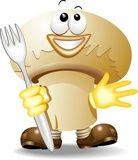 Vettoriale: Fungo Champignon Cartoon-Mushroom-Vector