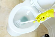 Homemade Toilet Cleaner! 1/2 cup baking soda,1 cup lemon juice,1/2 cup hydrogen peroxide. Mix well, and then funnel into a spray bottle. Spray the mixture over the toilet and let sit for five to ten minutes while you clean the rest of the bathroom. Then scrub with a long handled brush.