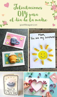 Felicitaciones DIY para el dia de la madre Origami, Lettering, Frame, Diy, Ideas, Home Decor, Wine Bottle Corks, Pop Cans, Recycled Crafts